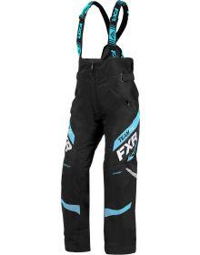 FXR Team Womens Pant Black/Sky Blue