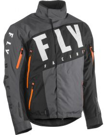 Fly Racing 2020 SNX Pro Snowmobile Jacket Black/Grey/Orange