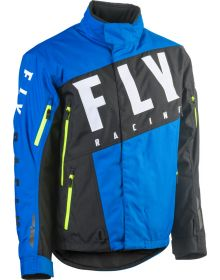 Fly Racing 2020 SNX Pro Snowmobile Jacket Blue/Black/Hi-Vis