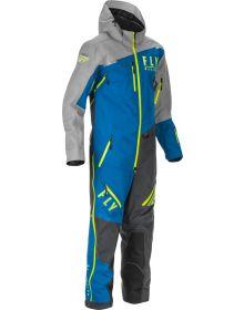Fly Cobalt Snow Bike Shell 1pc Monosuit Blue/Grey/Hi-Vis
