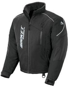 Rocket Snow Gear Mens Storm XC Snowmobile Jacket Black/Black