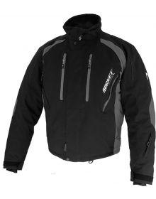 Rocket Snow Gear Flame Snowmobile Jacket Black/Gray