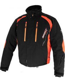 Rocket Snow Gear Flame Snowmobile Jacket Black/Orange