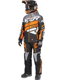 FXR Boost Lite Dri-Link 2pc Monosuit Black/Grey Fade/Orange