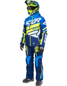 FXR Boost Lite Dri-Link 2pc Monosuit Navy/Blue Fade/Hi Vis