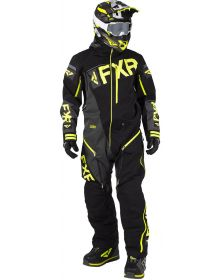 FXR Ranger Instinct Lite Monosuit Black/Charcoal/Hi Vis