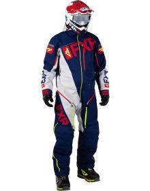 FXR Ranger Instinct Lite Monosuit Navy/Light Grey/Red/Hi Vis