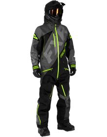 FXR CX F.A.S.T Insulated Monosuit Charcoal/Black/Lime