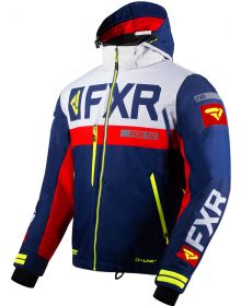 FXR Helium X Jacket Navy/Light Grey/Red/Hi Vis
