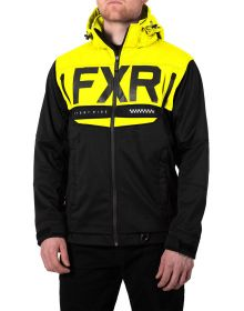 FXR Helium Ride Softshell Jacket Black/Hi Vis