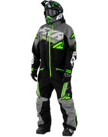 FXR CX FAST Insulated Monosuit Black/Charcoal/Lime