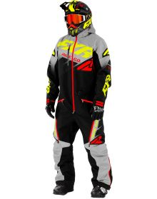 FXR CX FAST Insulated Monosuit Black/Grey/Hi-Vis/Nuke Red
