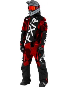 FXR CX FAST Insulated Monosuit Red Camo/Black/White