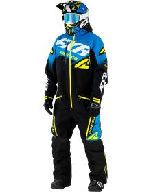 FXR CX FAST Insulated Monosuit Black/Blue/Hi-Vis