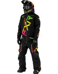 FXR CX FAST Insulated Monosuit Black/Sherbert