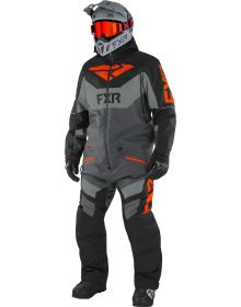 FXR Fuel FX FAST Insulated Monosuit Black/Charcoal/Grey/Nuke Red