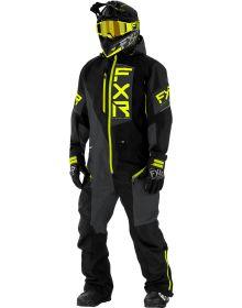 FXR Recruit Lite Monosuit Black/Charcoal/Hi-Vis