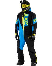 FXR Recruit Lite Monosuit Black/Blue/Hi-Vis