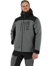 FXR Vertical Pro Insulated Softshell Jacket Heather Grey/Black