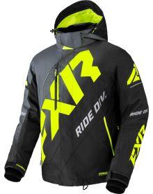 FXR 2022 CX Snowmobile Jacket Char-Black Fade/Hi Vis