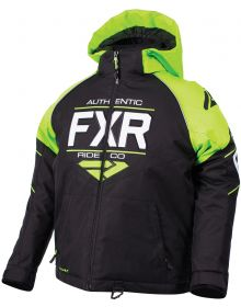 FXR 2018 Clutch Youth Jacket Black/Lime/White