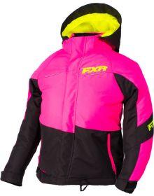 FXR Fresh Child Jacket Black/Elec Pink/Hi Vis