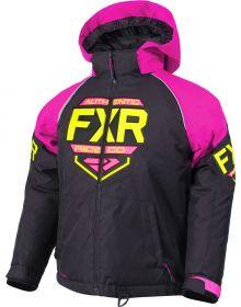 FXR Clutch Child Jacket Black/Elec Pink/Hi Vis