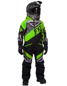 FXR Fuel Youth Monosuit Black/Charcoal/Lime