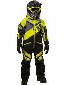 FXR Fuel Youth Monosuit Black/Charcoal Camo/Hi Vis