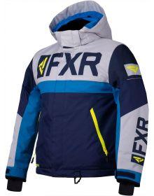FXR Helium Youth Jacket Navy/Light Grey/Blue/Hi Vis