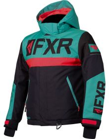 FXR Helium Youth Jacket Black/Mint/Coral