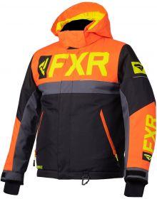 FXR Helium Toddler Jacket Black/Orange/Charcoal/Hi Vis