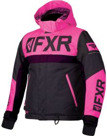 FXR Helium Youth Jacket Black/Electric Pink/Plum