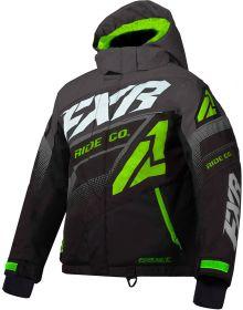 FXR Boost Toddler Jacket Black/Charcoal/Lime