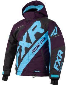 FXR CX Toddler Jacket Plum/Black/Sky Blue