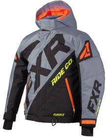 FXR CX Toddler Jacket Grey/Black/Orange/Hi Vis