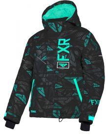 FXR Fresh Toddler Jacket Black/Mint Icon