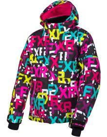 FXR Fresh Toddler Jacket Black FXR/Fuchsia