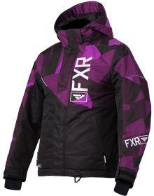 FXR Fresh Youth Jacket Black/Plum Camo/White