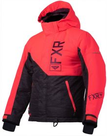 FXR Fresh Youth Jacket Charcoal/Coral/Plum