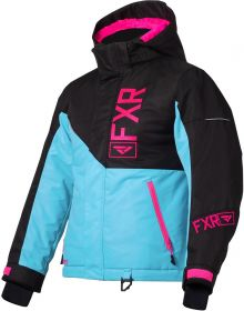 FXR Fresh Youth Jacket Sky Blue/Black/Electric Pink