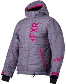 FXR Fresh Toddler Jacket Grey Linen/Fuchsia