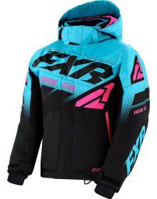 FXR Boost Youth Jacket Black/Sky Blue/Elec. Pink