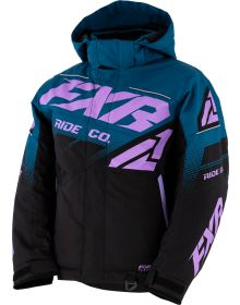 FXR Boost Youth Jacket Black/Oceane/Lilac
