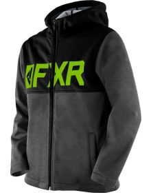 FXR Helium Softshell Youth Jacket Charcoal/Lime