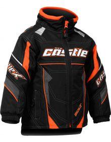 Castle X Bolt G4 Toddler Snowmobile Jacket Orange