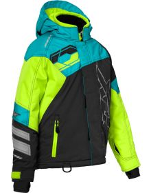 Castle X Code Youth Snowmobile Jacket Turquoise/Hi-Vis