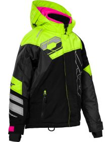 Castle X Code Youth Snowmobile Jacket Black/Hi-Vis/Pink Glo