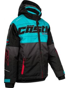 Castle X Strike Youth Snowmobile Turquoise/Red/Black