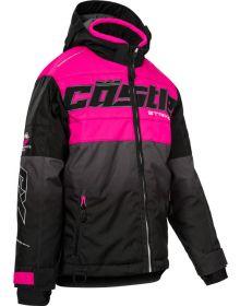 Castle X Strike Youth Snowmobile Jacket Pink Glo/Black/Mint